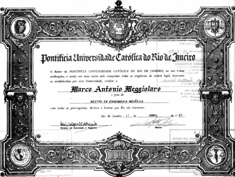 Curriculum Vitae Marco Antonio Meggiolaro